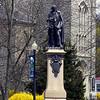 Downtown Taunton, MA - Robert Treat Paine Memorial and First Parish Church.<br /> (c) Tom Croke/Visual Image, Inc.