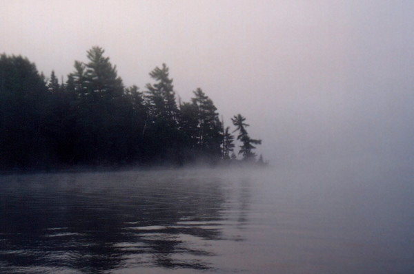 Morning Mist (Algonquin Provincial Park Ontario Canada)<br /> 	<br /> In the morning of our day <br /> a mist shrouds our sight<br /> <br /> In the heat of our day<br /> often in seeing too far<br /> find we can not bear<br /> the knowing or the being known<br /> 				<br /> In the dusk of our day<br /> we consume the long looking back <br /> and yearn for the mist of the morning<br /> to ease our pain<br /> <br /> In the night of our day<br /> we wonder at the stars