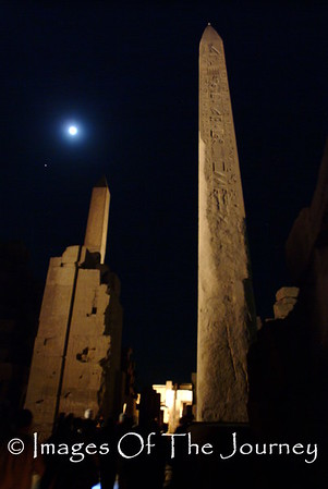 Night Obelisk Moon and Mars