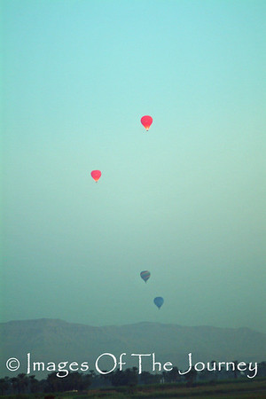 Balloons at Dawn over the Nile