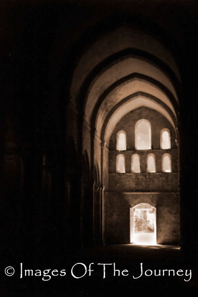 Destroyed in the French Revolution<br /> Romanesque Abbey