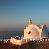 Santorini Church at Dawn<br /> <br /> I was photographing here as the sun came up and then suddenly... gunshots!  I looked up to see many men in camouflage aiming shotguns into the sky. No birds survived. I also never saw any more birds on the island.