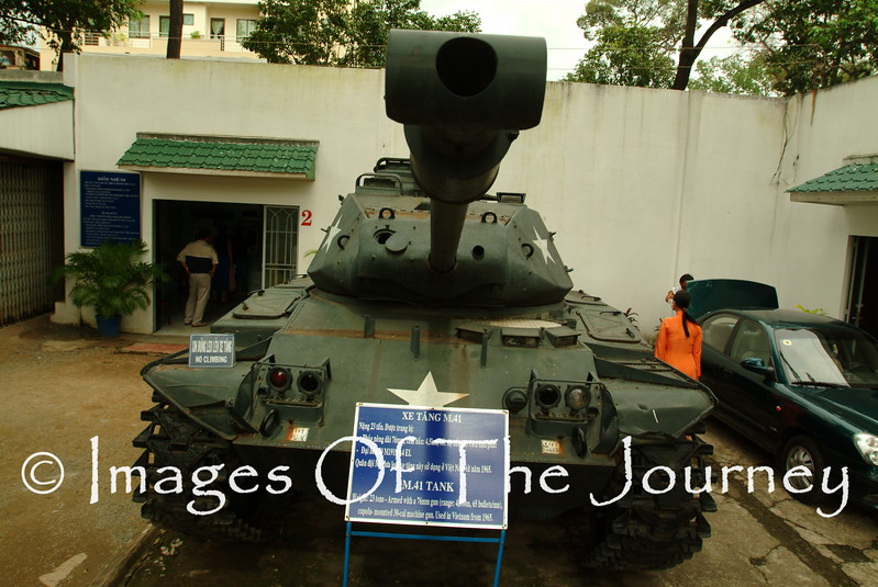 US Tank at War Remembrance Museum Saigon