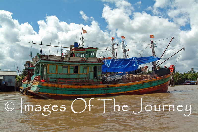 Junk On The Mekong River
