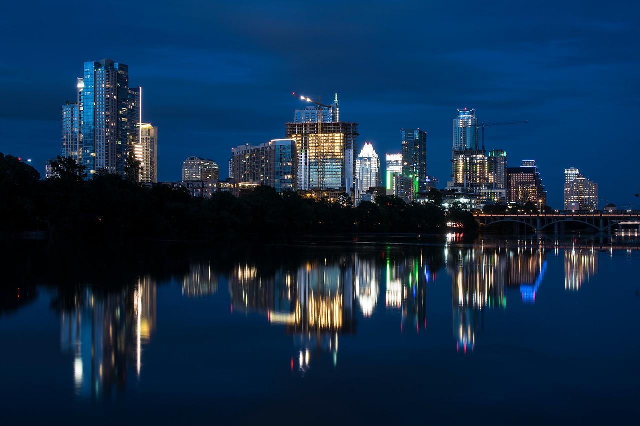 Austin Skyline at nightfall