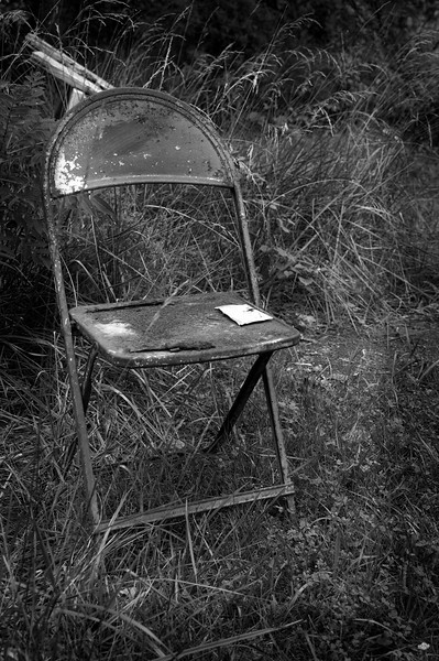 Forgotten - an old chair found at a stone quarry in Indiana