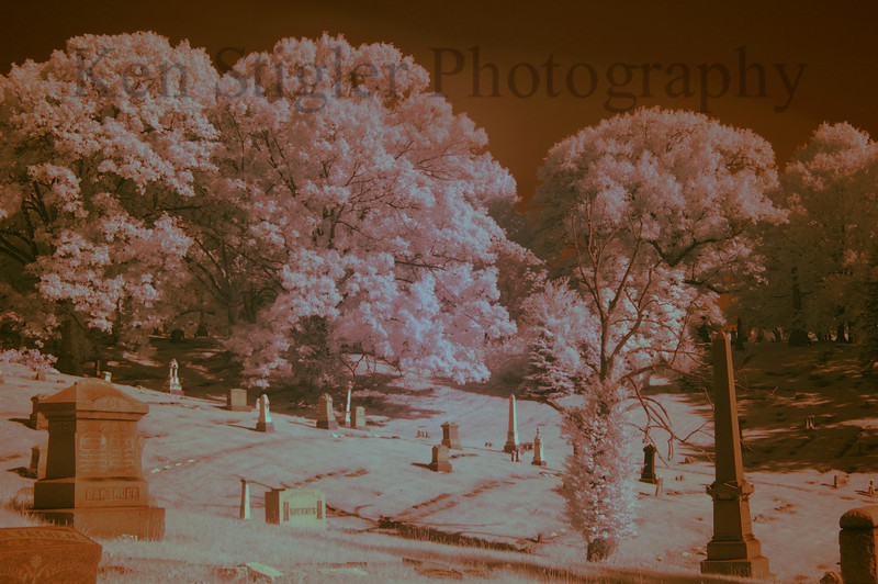 Vine Street Hill Cemetery, Infrared image