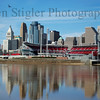 The last day of winter, 2006.  View of Cincinnati from Newport, Kentucky