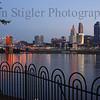 Cincinnati at dawn as seen from Covington
