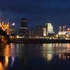 Cincinnati Riverfront at Dawn 3 - Left image full perspective