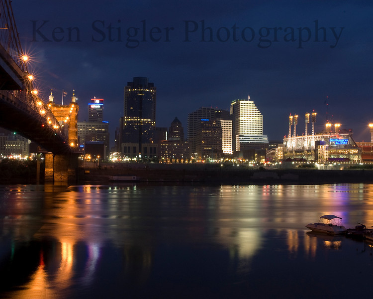 Cincinnati Riverfront at Dawn as an 8x10