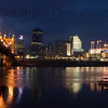 Cincinnati Riverfront at Dawn as an 8x10