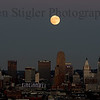 Supermoon over Cincinnati