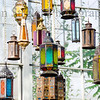 Lanterns left from the Moroccan butterfly show at the Krohn Constervatory