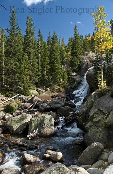 Alberta Falls in the Rocky Mountain National Park, Colorado