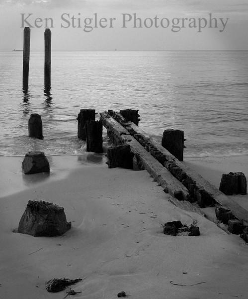 Wasted - pier remnants, Buckroe Beach, Virginia