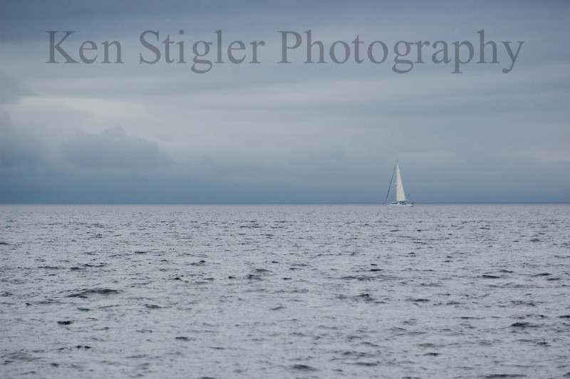 This sailboat was out in the Strait of Juan De Fuca