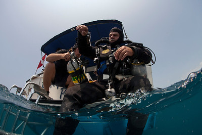 Brian Kakuk prepares for a dive to the depths of the Challenger Bank. This project executed the deepest dives ever completed in Bermuda. www.OceanExplorer.NOAA.gov. Photo: Jill Heinerth