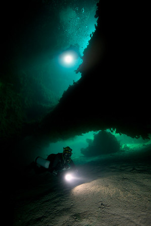 Brian Kakuk and Marc Laukien during explorations in Ackins Island that netted 12 new caves and over 8000 feet of new passages.