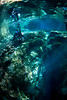 A cave diver ponders before entering the cave at Ginnie Springs, Florida. Photo: Jill Heinerth