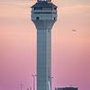 Dulles' ATCT at dusk.