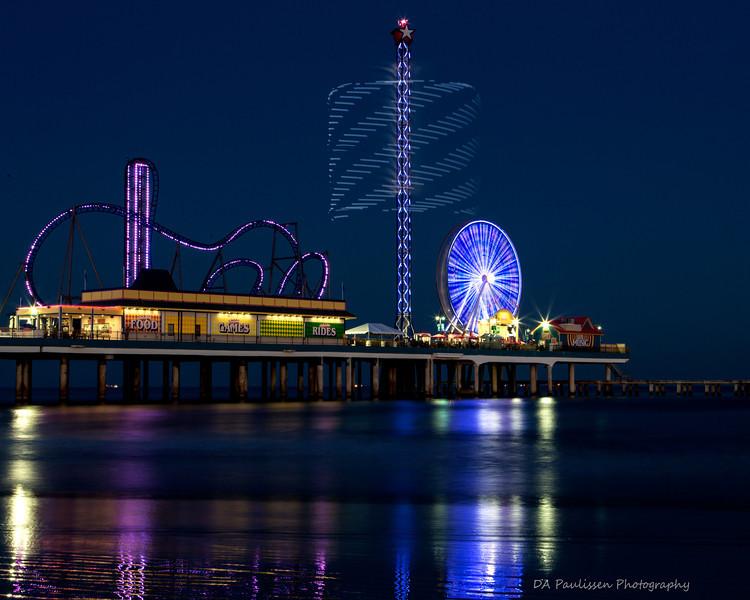 """Geometric Barrel"" at the Galveston Island Pleasesure Pier"