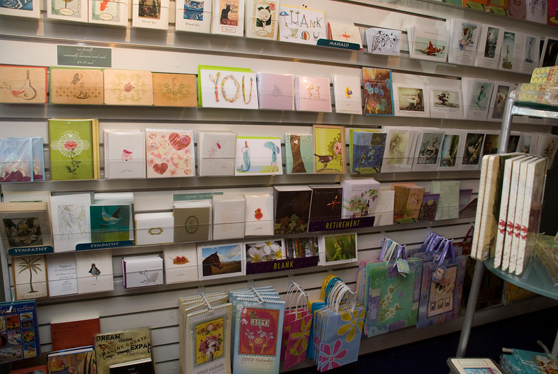 Cards in boutique