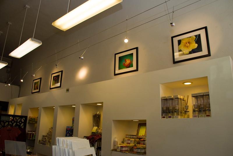 Framed prints in boutique 2