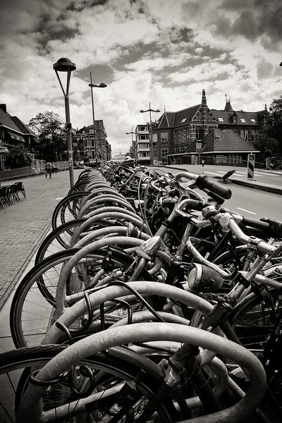 """Traffic Jam, Holland Style"" - Leiden, Netherlands"