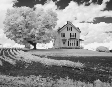 Infrared Photo of New England Farm House, West Newbury MA