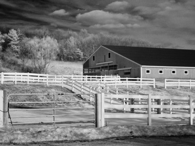 Infrared Photo of a Horse Barn, Haverhill, MA