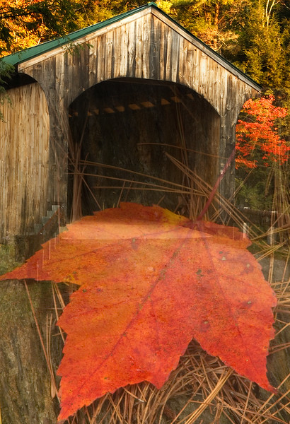 Covered Bridge and Maple Leaf Composite