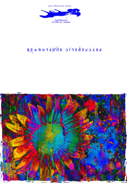 Psychedelic sunflower card