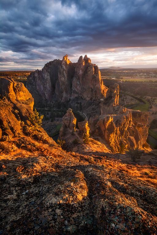 Photo of sunset at Smith Rock, Oregon