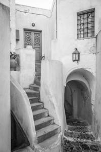 A door to a home in the town of Pyrgos, Greece.