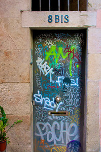 """8 BIS and graffiti"" -- Doors and Windows in Spain, Italy and France"