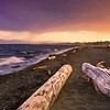 Sunset over Coburg Peninsula (Esquimalt Lagoon), Colwood British Columbia