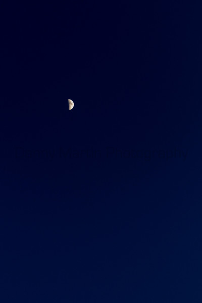 Sliver of a moon.