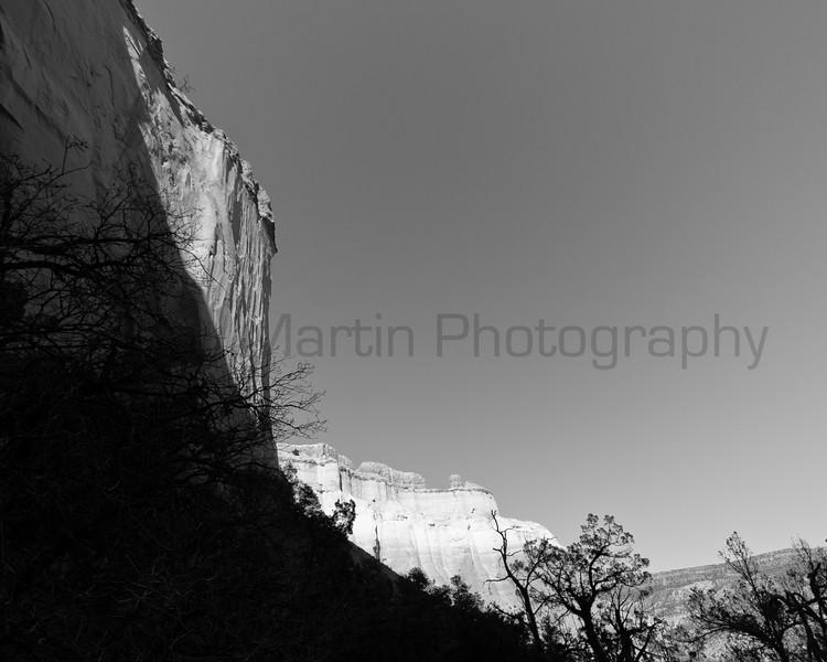 Shadow below the rim.  New Mexico.