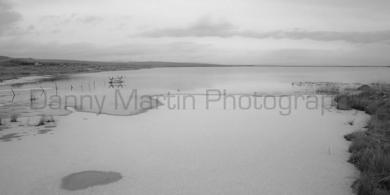 Frozen lake on the plains, No. 1