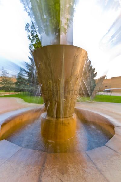 Fountain.  Colorado State University campus.  Fort Collins, Colorado.