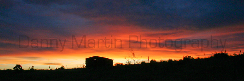Old cabin at sunset.<br /> Colorado.
