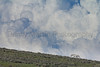 Horse and storm cloud North Park, Colorado.