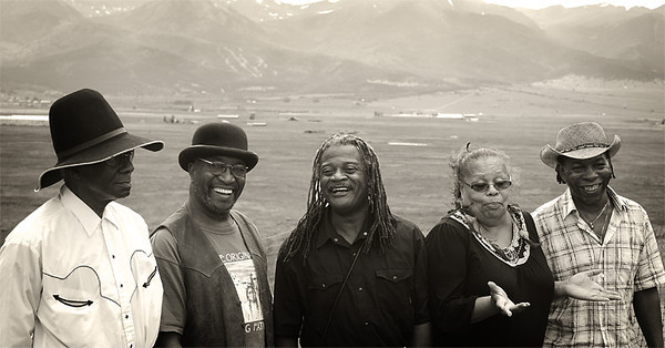 The Ebony Hillbillies rock the High Mountain Hayfever Bluegrass festival. Westcliffe, Colorado.