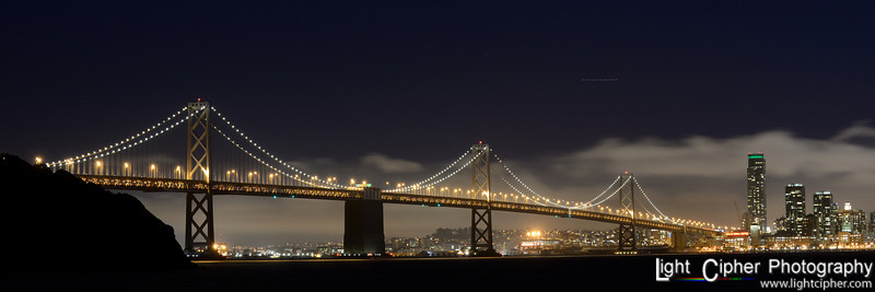 Bay Bridge Lights 3:1 ratio