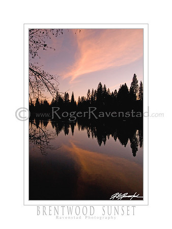 "18X24 Poster: ""BRENTWOOD SUNSET""  $49.95"