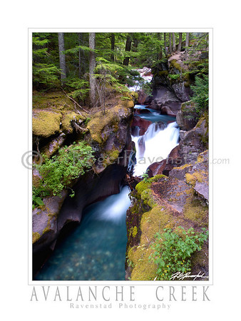 "30X40 Poster:  ""AVALANCHE CREEK""  $95"