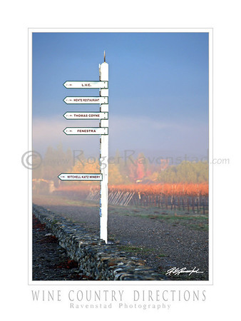 "30X40 Poster:  ""WINE COUNTRY DIRECTIONS"" $95"