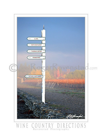 "18X24 Poster:  ""WINE COUNTRY DIRECTIONS""  $49.95"