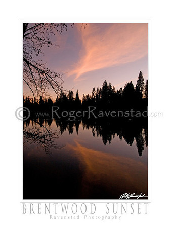 "30X40 Poster: ""BRENTWOOD SUNSET"" $95"